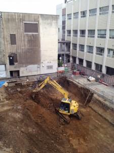 33号館低層棟工事風景